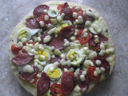 "Рецепты от Наруто . Пицца ""Водяной дракон"""