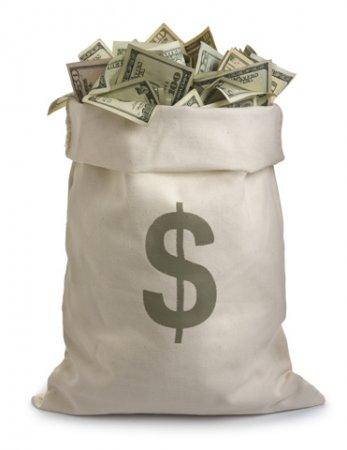 Гламурный денежный мешок.