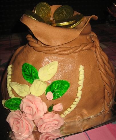 """Торт """"Денежный мешок"""""""